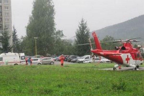 Vrtuľník už takmer dva roky pristáva v areáli nemocnice