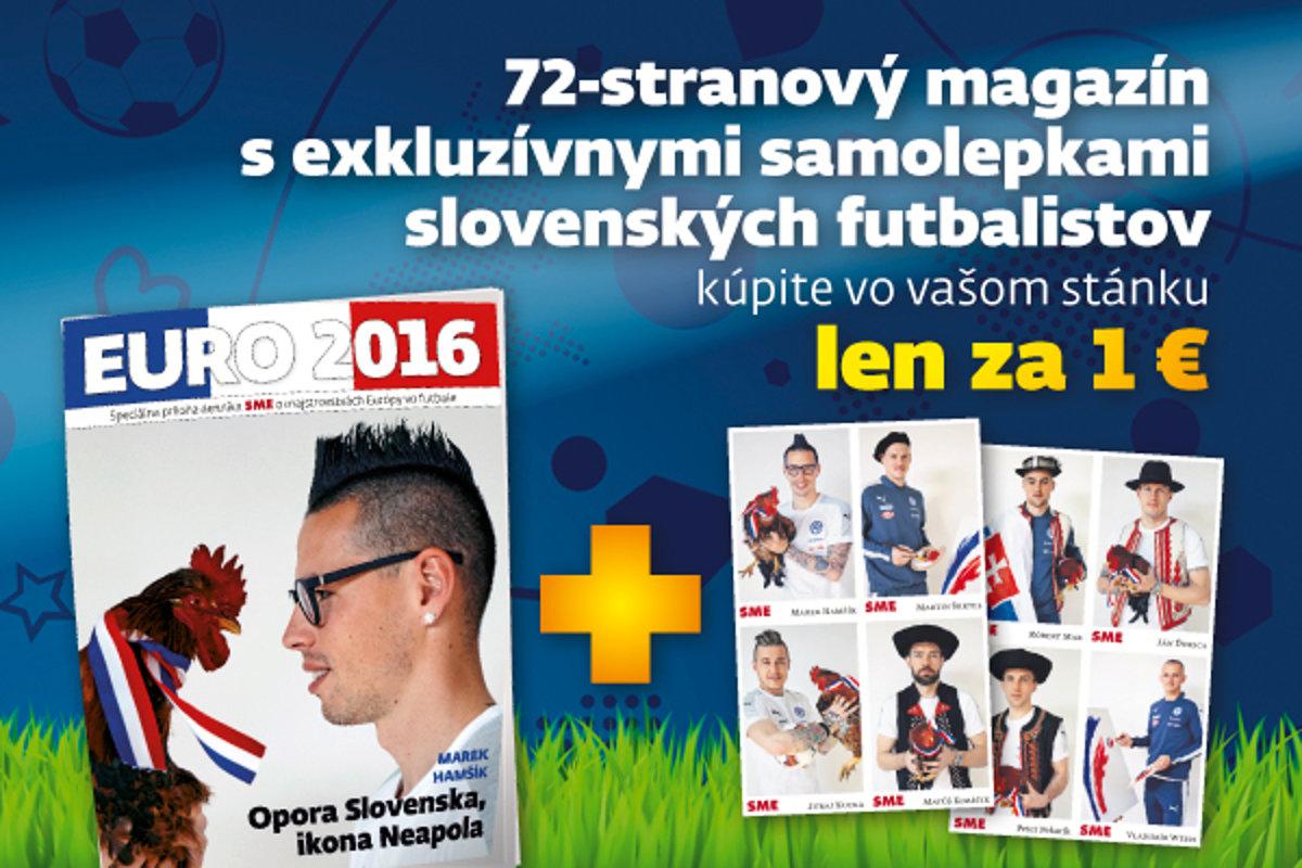 e640c7fd9d49a Magazín EURO 2016 so samolepkami futbalistov - Šport SME