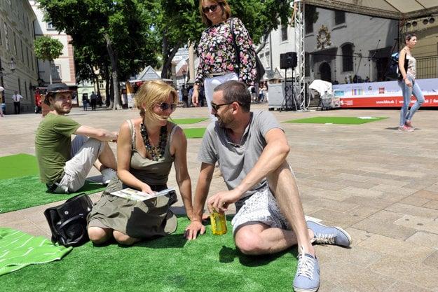 Zelený piknik na Hlavnom námesti v Bratislave