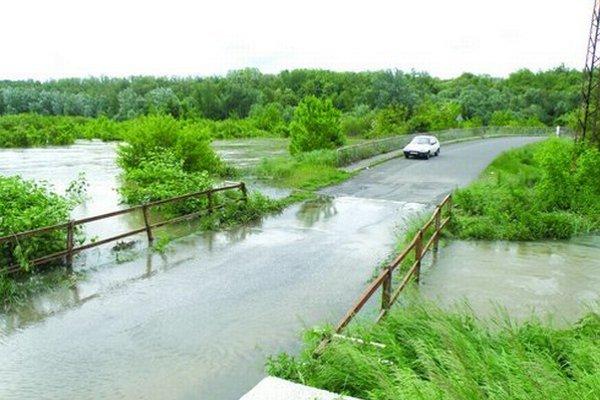 Záplavy na Ipli vo februári 2013.