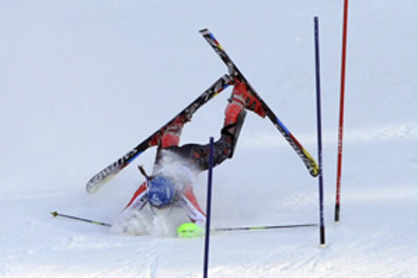 Slovenská slalomárka Veronika Zuzlová takto skončila tesne v druhom kole v Záhrebe.