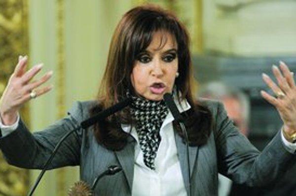 Argentínska prezidentka Cristina Fernándezová chystá zmeny v dôchodkoch.