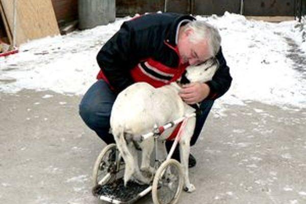 Ondrej Hajdú vyrobil psí invalidný vozík, vďaka ktorému bude Bim možno aj chodiť.