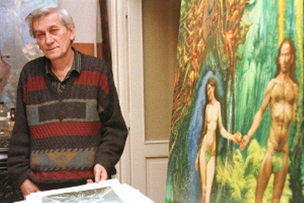 Archívna snímka. Výtvarník, národný umelec Albín Brunovský, v ateliéri.