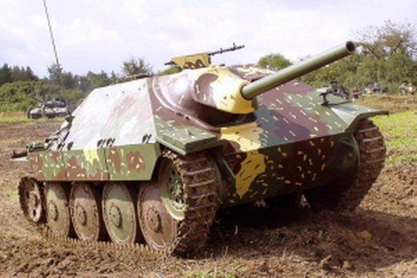 Nemecký tank Hetzer.