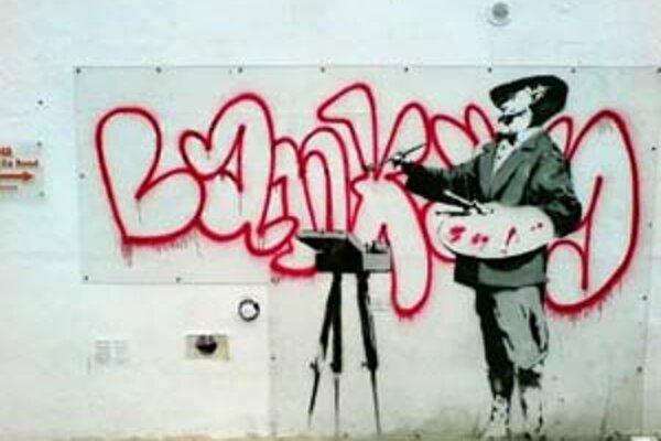 Banksyho Streetart.