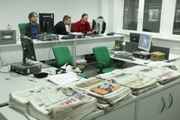 Nové priestory SME na Lazaretskej ulici. V redakcii zatiaľ na stoloch nie je veľký neporiadok, v priebehu tohto týždňa sa to určite zmení.