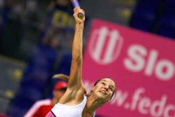 Dominika Cibulková zápas otvára. Cíti šancu na víťazstvo.