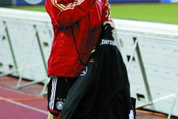 Bastian Schweinsteiger na viedenskom štadióne.