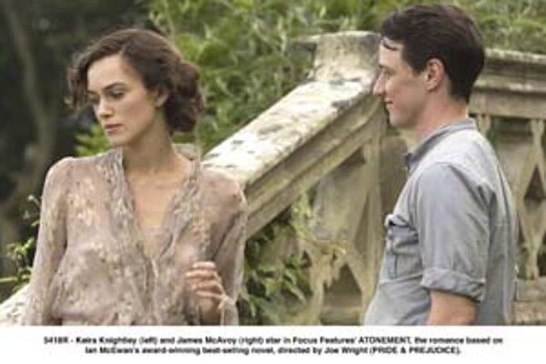 Briti vyhlásili za svoj najlepší film minulého roka Pokánie. Hlavné úlohy v ňom hrajú Keira Knightley a James McAvoy.