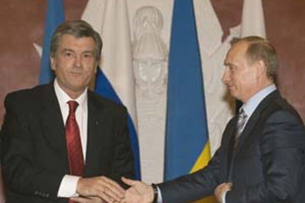 Vladimir Putin a Viktor Juščenko: Strategickí partneri bez vzájomej dôvery.