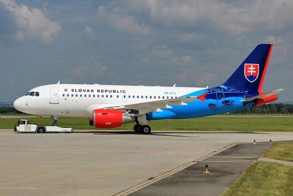 Desaťročný Airbus dostal slovenské farby v českej Ostrave.