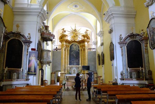 Františkánsky kostol v Kremnici.