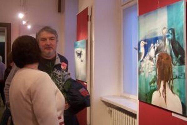 Na výstave Michaely Rázusovej Nociarovej.