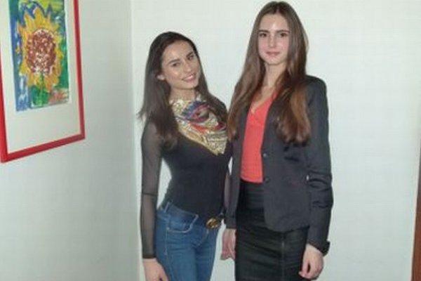 Zuzana Marčeková (vľavo) a Nikola Kvasnicová.