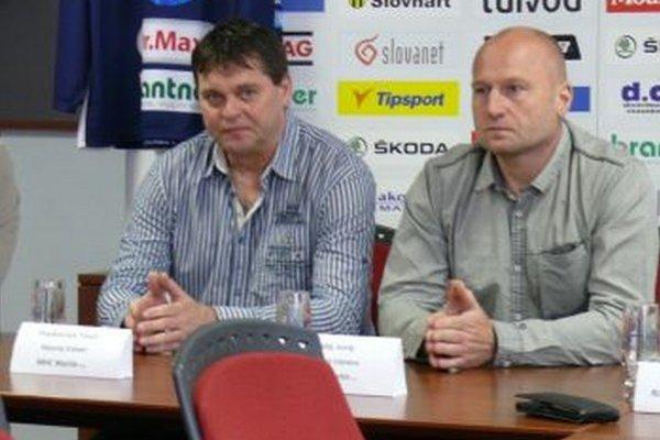 Nový martinský trénerský tandem Pavel Paukovček – Juraj Halaj.
