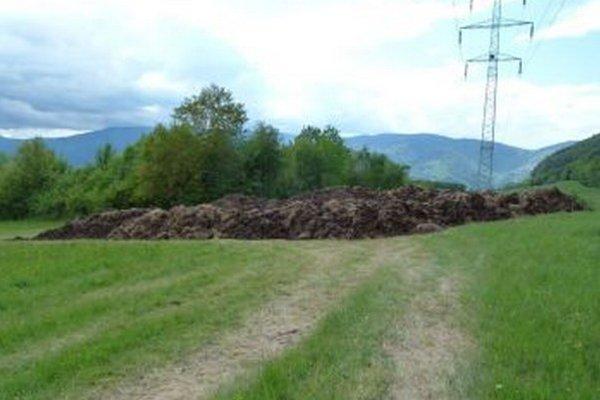 Hnoj sa teraz nachádza na lúke nad dedinou.