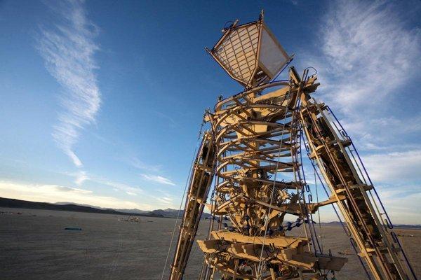 Burning Man sa každoročne odohráva v nevadskej púšti.