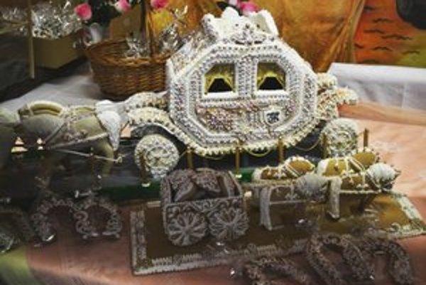 Barokový štvorzáprah s kočom z medovníka.