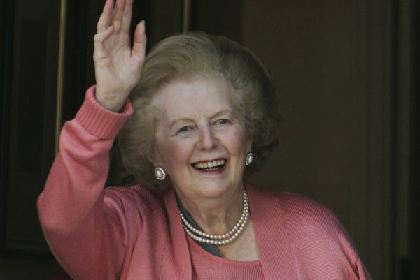 Margaret Thatcherová.