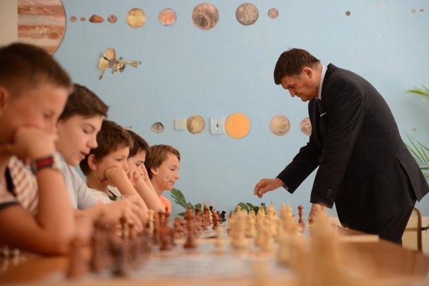 Prezident Slovenského šachového zväzu František Jablonický