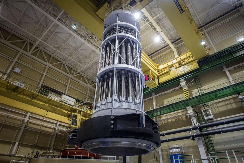 Horný blok reaktora.