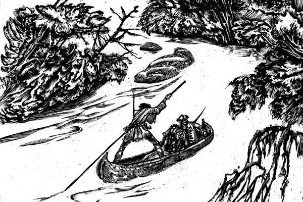 Posledný mohykán. Schnitzer ilustroval kultové dobrodružné knihy.