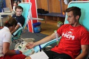 Krv daroval aj kapitán Zvolenčanov Michal Juraško.
