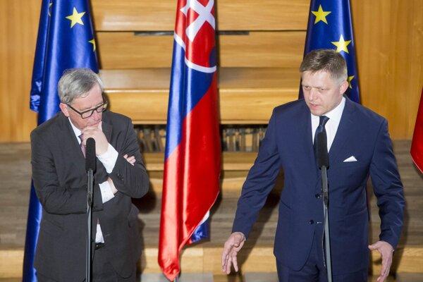 Jean-Claude Juncker a Robert Fico.