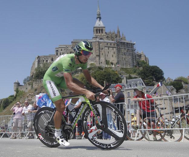 V roku 2013 absolvovali cyklisti na Tour de France pri Mont-Saint-Michel časovku.