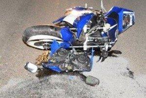 Zničená motorka
