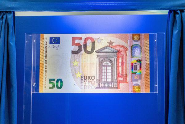 Bankovka v nominálnej hodnote 50 eur - ilustračná fotografia.