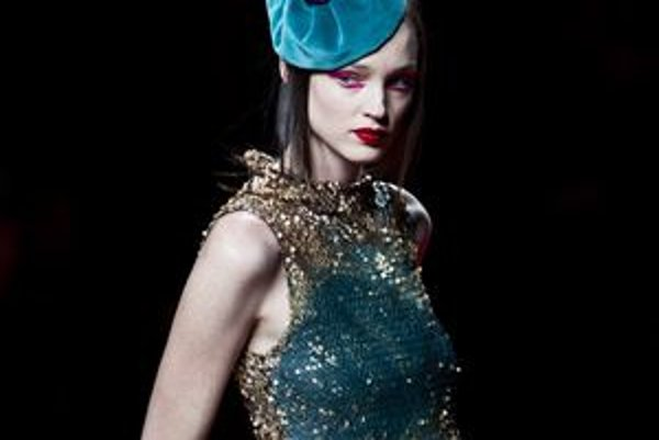 Model od Agathy Ruiz de la Prada, s ktorým sa predstavila na Španielských dňoch módy