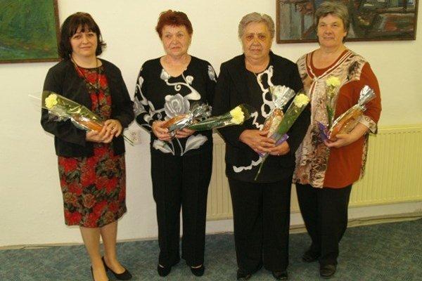 Zľava: Vardžíková Mária, Gubčová Mária, Goroľová Margita, Šrankotová Viera.