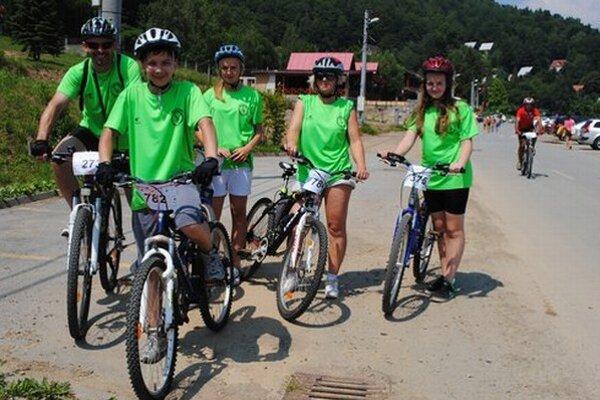 Na cyklistickú akciu na Domaši chodia aj celé rodiny.