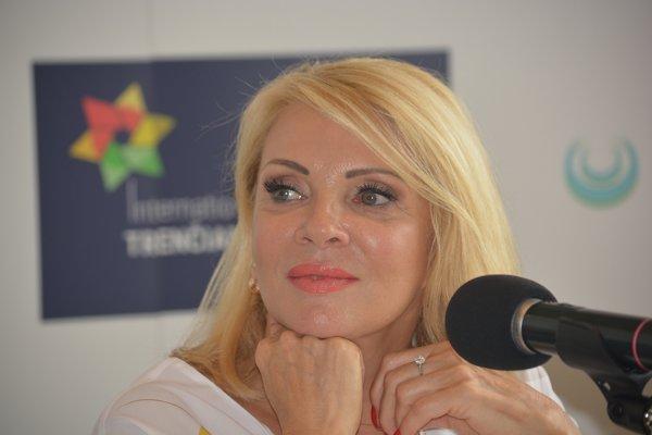 Zdena Studenková na festivale v Trenčianskych Tepliciach.