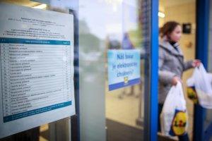 Polročný výkaz zverejňujú obchody na dverách alebo vo vchode do predajne.