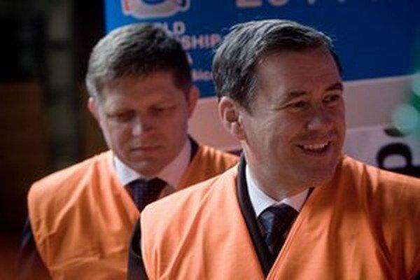 Premiér Robert Fico a majiteľ Váhostavu Juraj Široký.