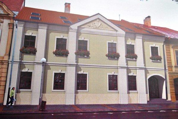 Predaná budova na námestí vStarej Ľubovni.