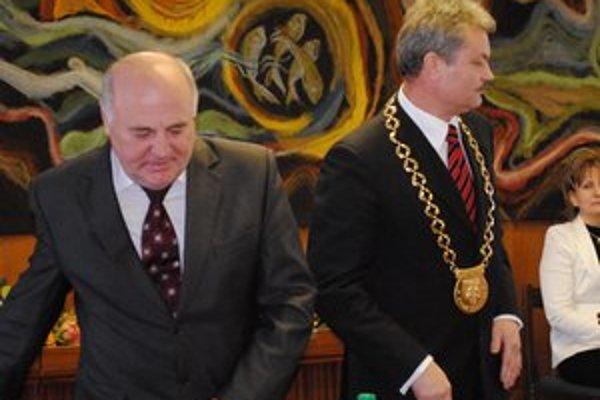 Jaržembovský a Biganič. Bývalý a súčasný primátor.