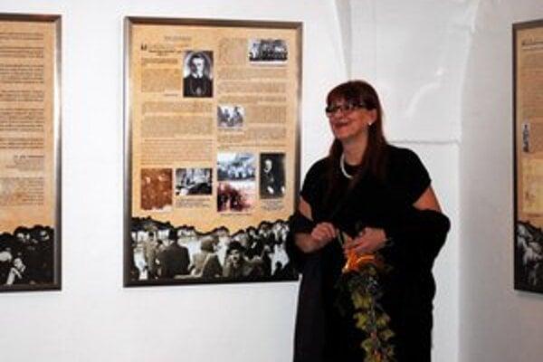 Anna Nagyová. Autorka výstavy.