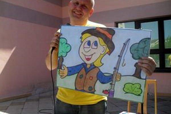 Ľ. Hreha zahral deťom rozprávku o zlatej rybke.