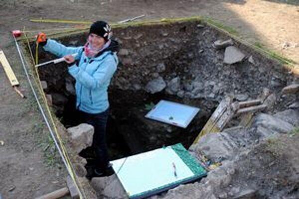 Výskum. Tím archeológov má aj počas práce veselú náladu.
