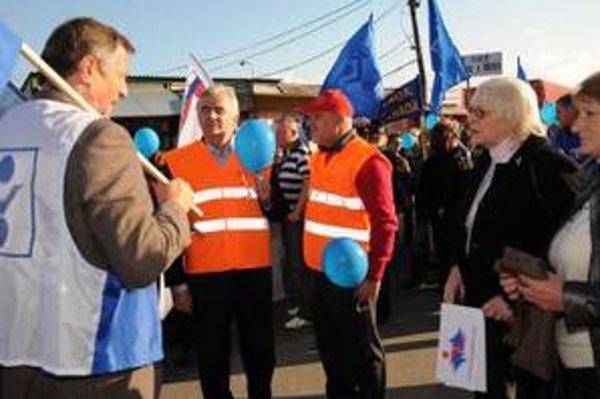 V októbri podporila protest odborov aj exministerka Tomanová.