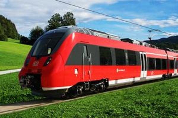 Exteriér vlaku Bombardier.