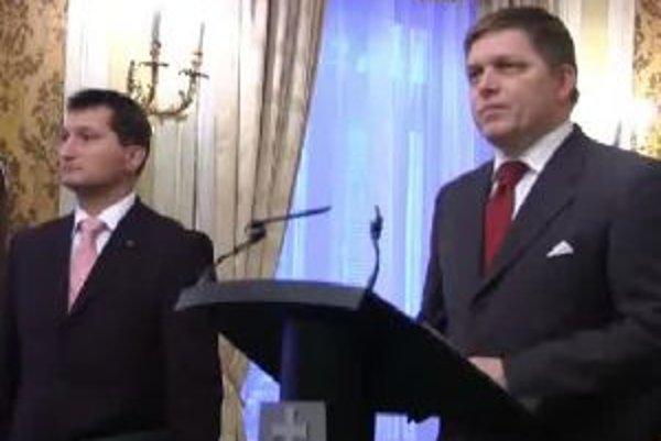 Premiér Fico a šéf bankovej asociácie Igor Vida.