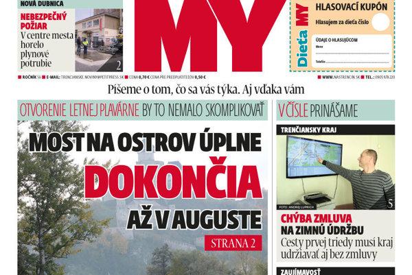 Najnovšie číslo MY Trenčianskych novín.