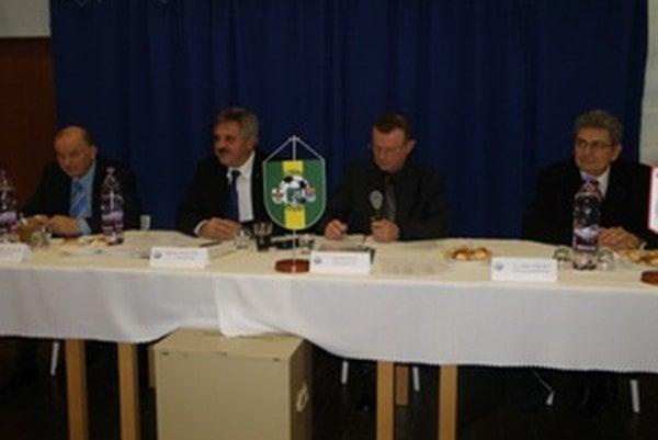 Zľava: František Bokor, Ivan Bartoš, Jozef Mišák a Anton Obert.