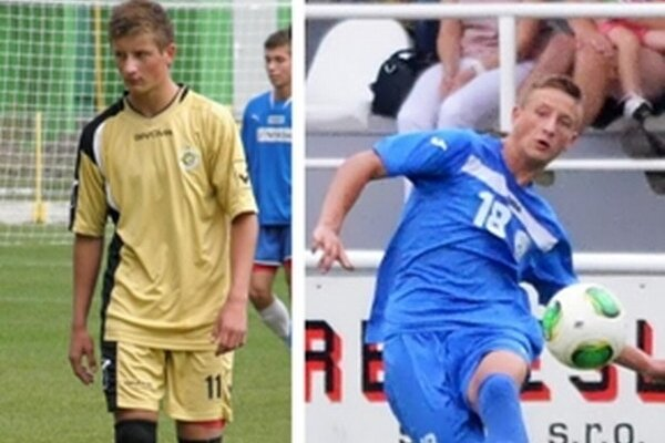 Matúš Matuškovič. Vľavo v drese bývalého klubu z hornej Nitry, vpravo za druholigového nováčika.
