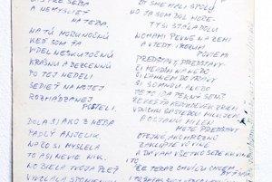 Obrázok a vyznanie od Lukáša Latináka, ktoré mi napísal, keď sme boli spolužiaci.